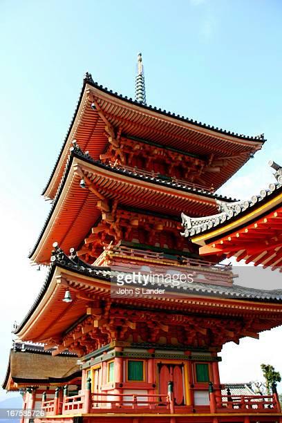 A view of the Kiyomizu Temple Pagoda