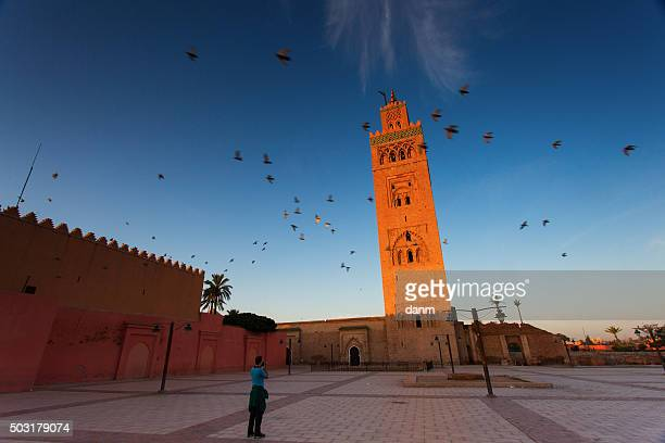 View of the Koutubia Mosque, the most popular mosque in Marrakech, Morocco