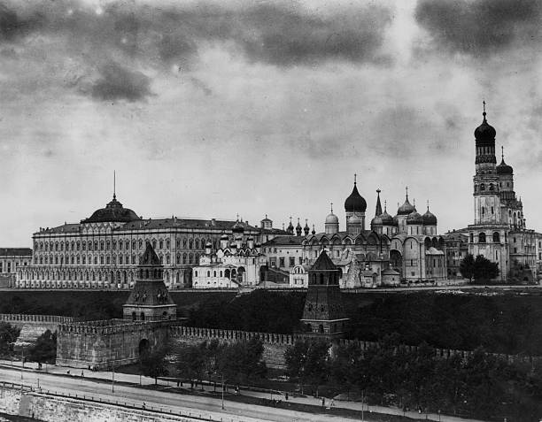 A view of the Kremlin, Moscow.