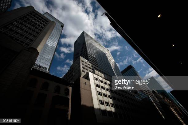A view of the Kushner Companies' flagship property 666 Fifth Avenue in Midtown Manhattan March 6 2018 in New York City Kushner Companies run by the...