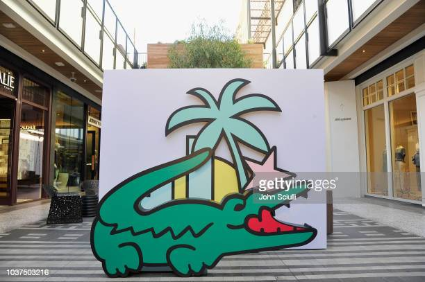 A view of the Lacoste crocodile at the Lacoste Century City Grand Opening on September 21 2018 in Los Angeles California