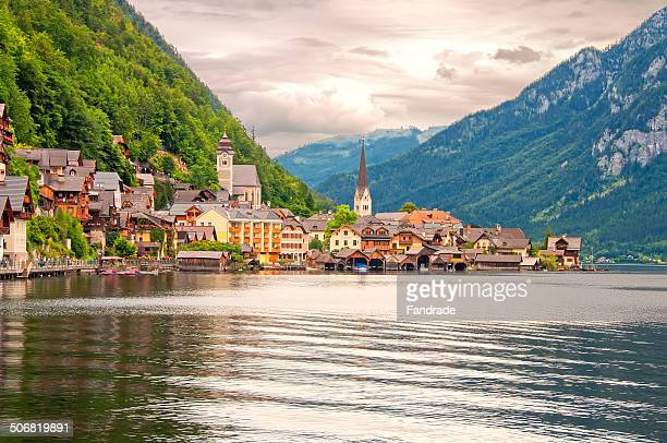 View of the lake and the village of Hallstatt