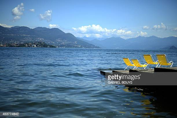 View of the Lake Maggiore taken on August 18 2014 near Stresa Lake Maggiore is a large lake located on the south side of the Alps It is the second...