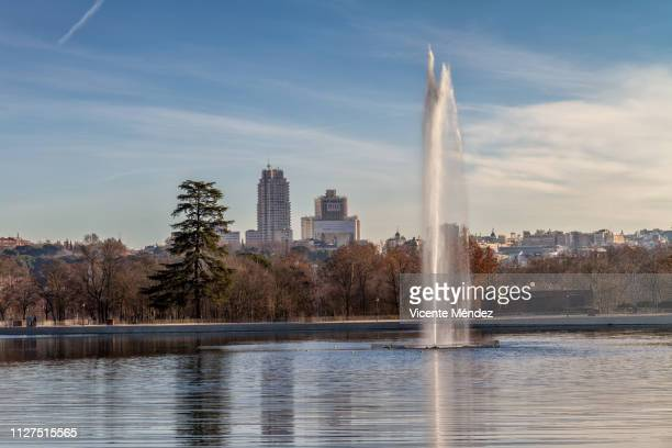View of the lake of the Casa de Campo (Madrid)