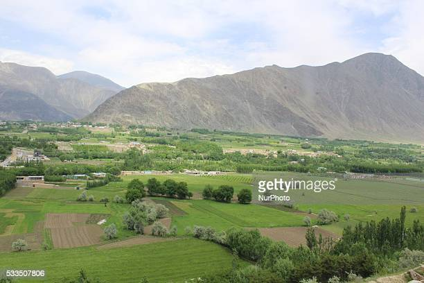 View of the landscape different areas of Badakhshan province, North East Afghanistan, on May 12, 2016