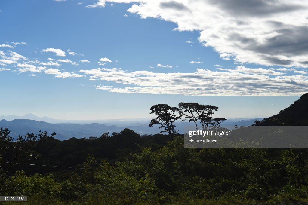 View of the landscape with its mountain range and its slightly cloudy blue  sky in Limay - Nicaragua Pictures Getty Images