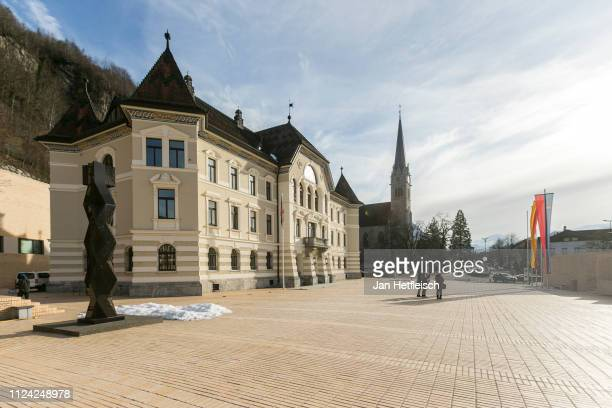A view of the Landtag of Liechtenstein on January 23 2019 in Vaduz Liechtenstein Liechtenstein celabrates the 300th anniversary of the founding of...