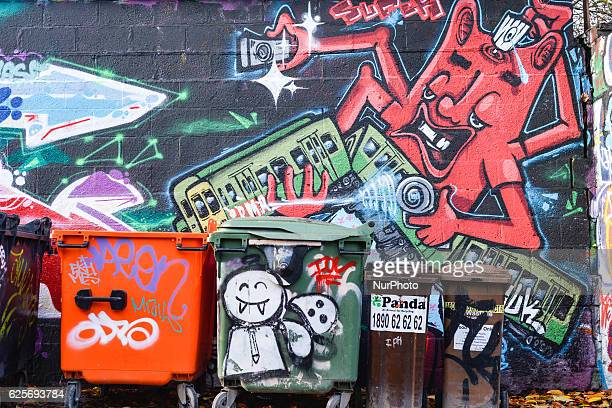 A view of the latest graffiti seen in Liberty Line in Dublin's city center On Thursday 24 November 2016 in Dublin Ireland