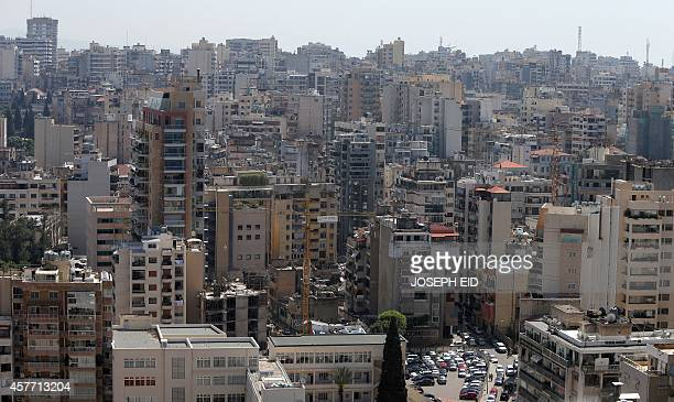 A view of the Lebanese capital Beirut seen from the Holiday Inn hotel on April 11 as the nation marks 39years since the outbreak of the 15yearlong...