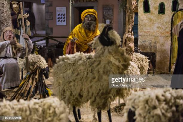 A view of the lifesize nativity scene in El Escorial on December 14 2019 in Madrid Spain