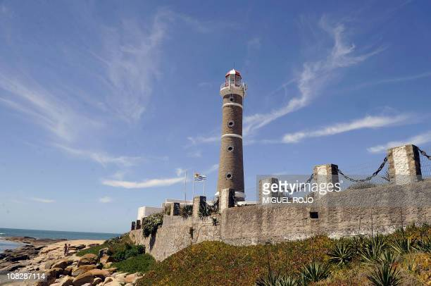 View of the lighthouse in Jose Ignacio Maldonado 180km east of Montevideo on January 18 2011 AFP PHOTO/Miguel ROJO