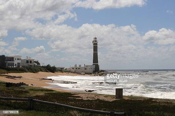 View of the lighthouse of Jose Ignacio Maldonado Uruguay on December 27 2012 AFP PHOTO/Miguel ROJO