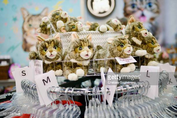 A view of the Lil Bub booth at at CatCon Worldwide 2018 at Pasadena Convention Center on August 4 2018 in Pasadena California