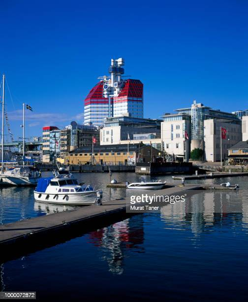 View of the Lilla Bommen harbour in Gothenburg