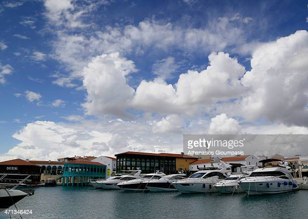 View of The Limassol Marina on April 10 2015 in Limassol Cyprus Limassol Marina is the first superyacht marina property in Cyprus offering 650 berths...