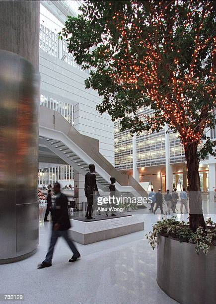 A view of the lobby at the World Bank headquarters main complex September 19 2000 in Washington