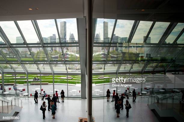 A view of the lobby of 'The Bridge' building on the new campus of Cornell Tech on Roosevelt Island September 13 2017 in New York City Seven years ago...