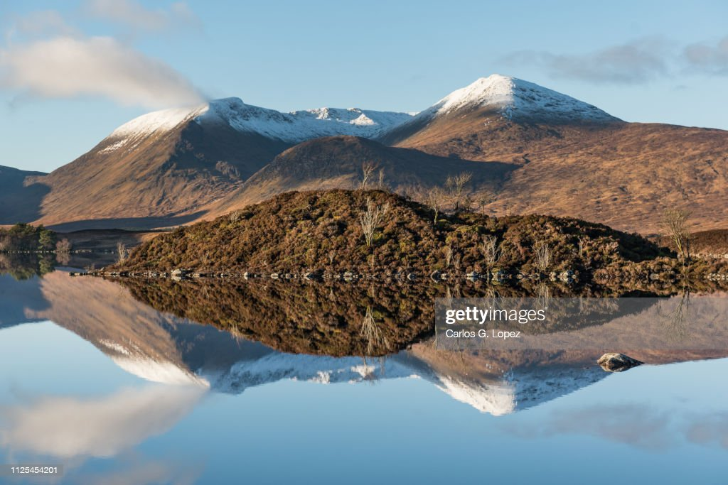View Of The Loch Etive Under Blue Sky With Mountain Range