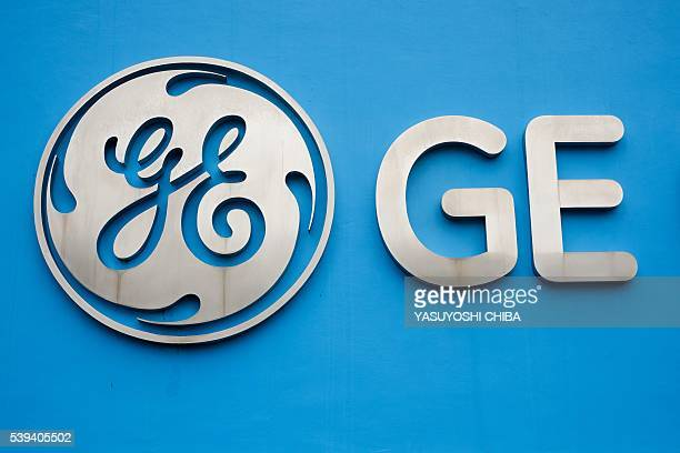 View of the logo at the entrance of General Electric Celma, GE's aviation engine overhaul facility in Petropolis, Rio de Janeiro, Brazil on June 8,...