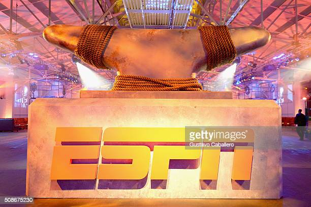 A view of the logo during ESPN The Party on February 5 2016 in San Francisco California