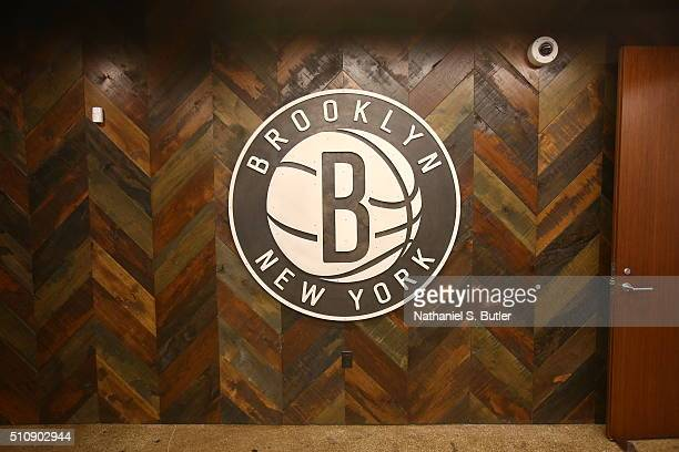 A view of the logo during the Opening of the HSS Training Center for the Brooklyn Nets on February 17 2016 at the Hospital for Special Surgery...