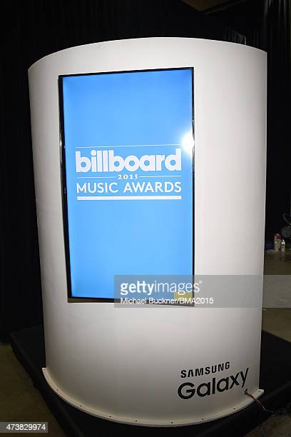 A view of the logo screen during the 2015 Billboard Music Awards at MGM Grand Garden Arena on May 17 2015 in Las Vegas Nevada
