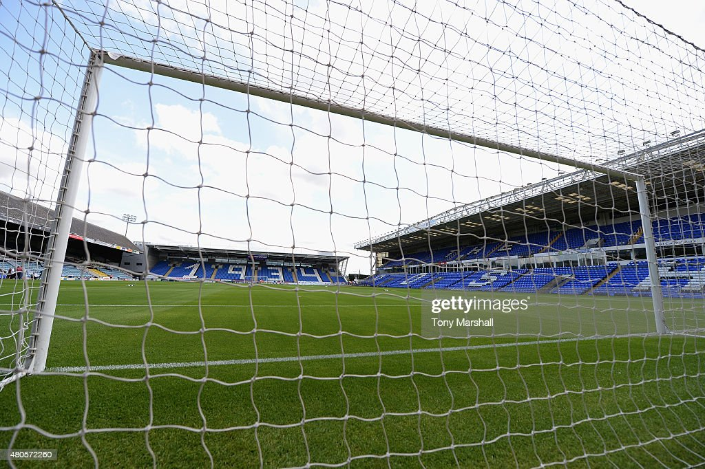 A view of the London Road Stadium, home of Peterborough United before the Pre Season Friendly match between Peterborough United and West Ham United at London Road Stadium on July 11, 2015 in Peterborough, England.