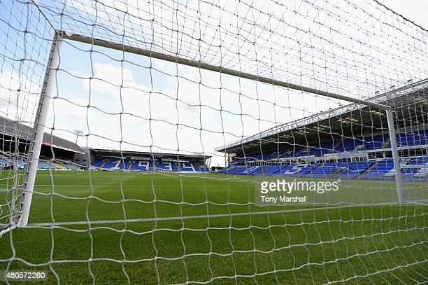 A view of the London Road Stadium home of Peterborough United before the Pre Season Friendly match between Peterborough United and West Ham United at...