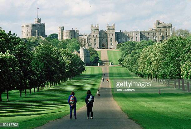 View Of 'the Long Walk' Leading To Windsor Castle A Residence Of The Queen'scirca 1990s