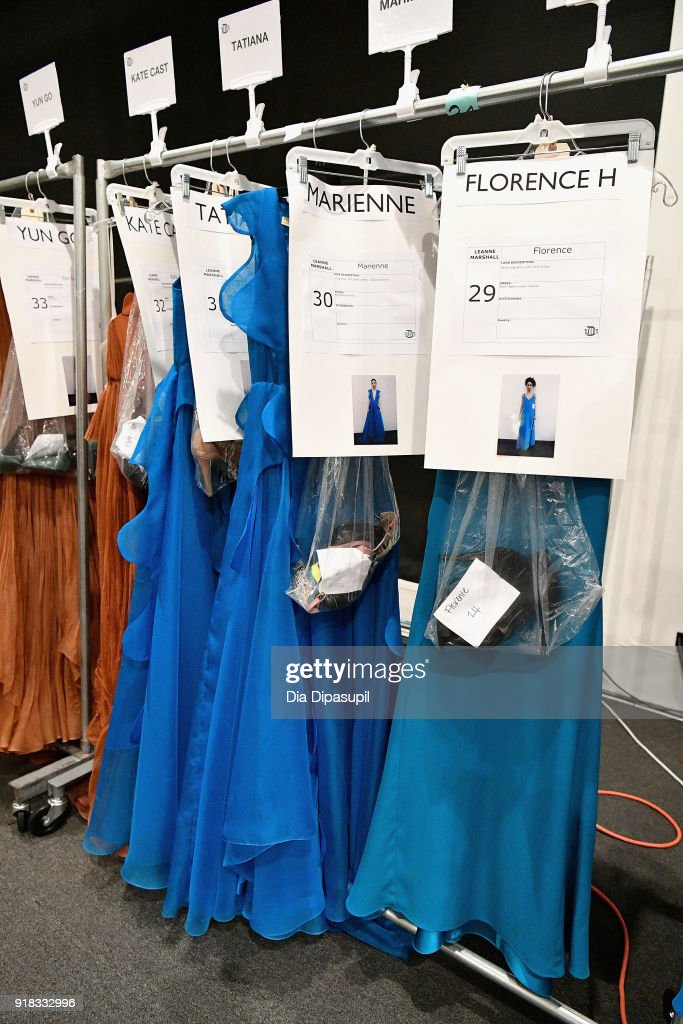 View of the looks backstage for Leanne Marshall during New York Fashion Week: The Shows at Gallery II at Spring Studios on February 14, 2018 in New York City.