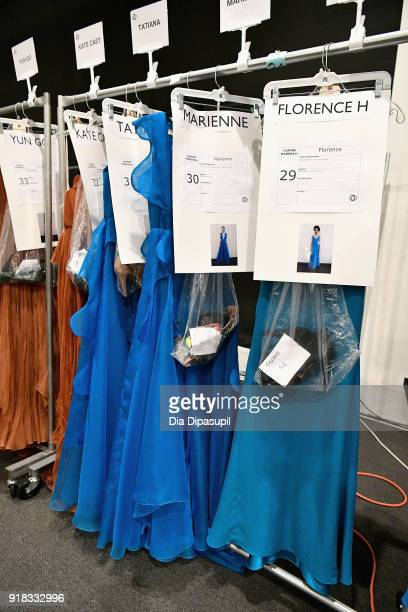 View of the looks backstage for Leanne Marshall during New York Fashion Week The Shows at Gallery II at Spring Studios on February 14 2018 in New...
