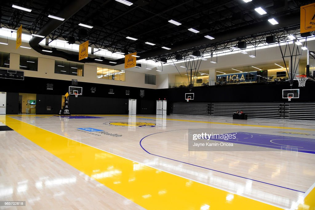 View of the Los Angeles Lakers UCLA Health Training Center on May 29