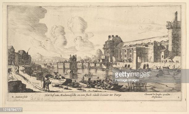 View of the Louvre and the Tuileries from Views of Paris and Neighborhoods plate 1 17th century Artist Reinier Zeeman