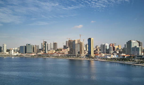 View of the Luanda coast from the port