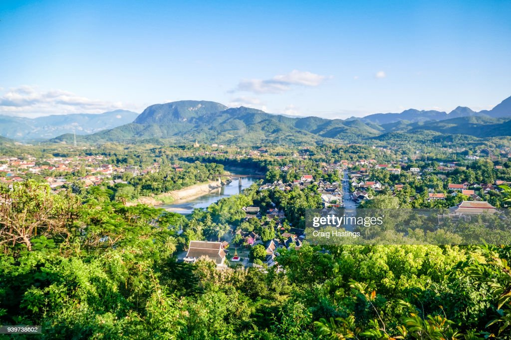 View of the Luang Prabang Sky line City Scape : Stock-Foto