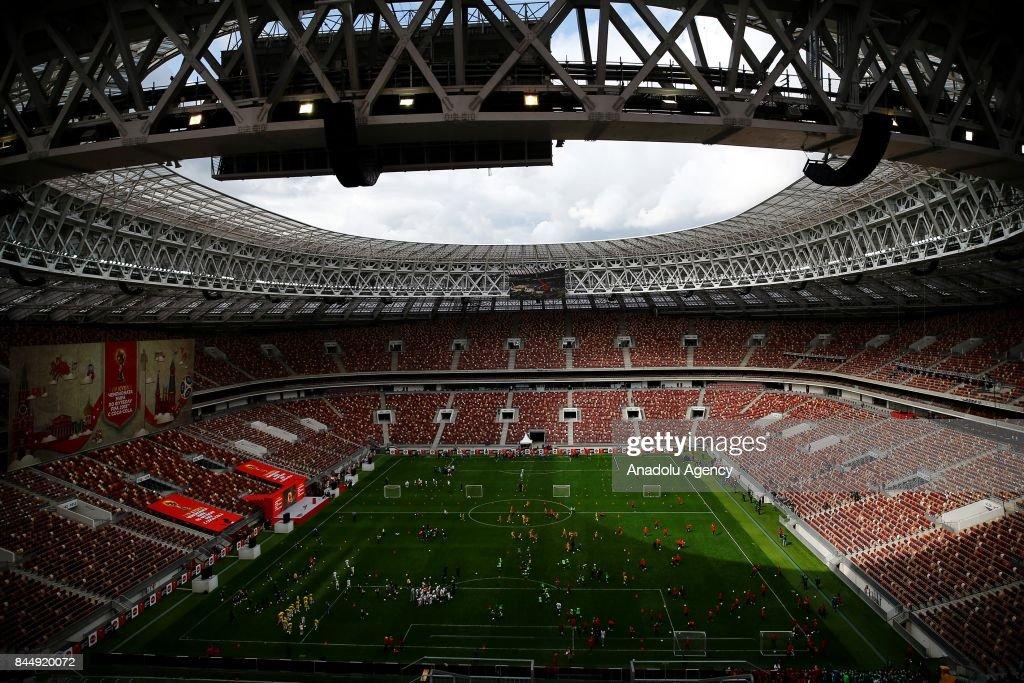 2018 FIFA World Cup Trophy Tour starts at Luzhniki : News Photo