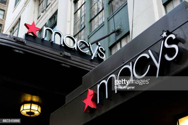 A view of the Macy's flagship store May 12 2017 in the Herald Square neighborhood in New York City The US Commerce Department says retail sales rose...