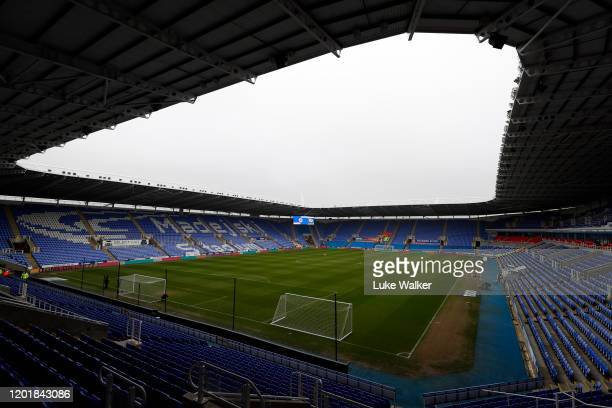 A view of the Madejski Stadium before the FA Cup Fourth Round match between Reading FC and Cardiff City at Madejski Stadium on January 25 2020 in...