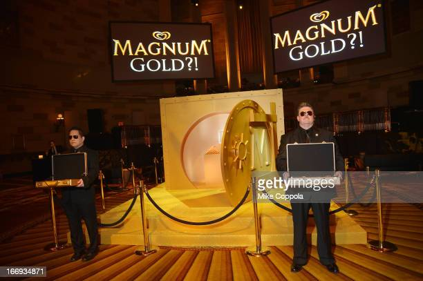View of the MAGNUM Gold vault at the 'As Good As Gold' MAGNUM Gold Film Premiere on April 18 2013 in New York City