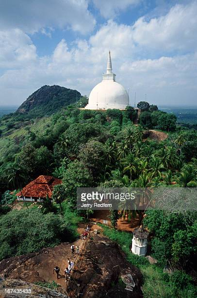A view of the Mahaseya Dagoba the largest stupa in Mihintale Buddhism originated in Sri Lanka in this spot in 247 BC when King Devanampiya Tissa on a...