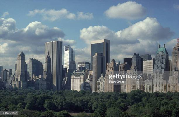 View of the Mahattan skyline on Central Park South across Central Park New York New York 1983 The photograph entitled 'Central Park South' was...