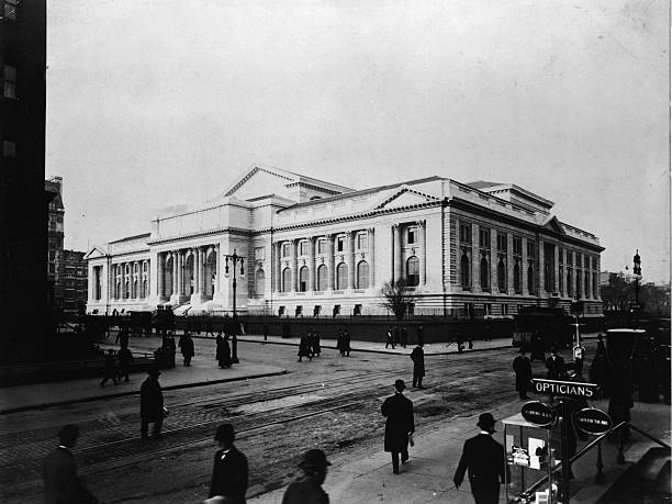 View of the main branch of the New York Public Library...