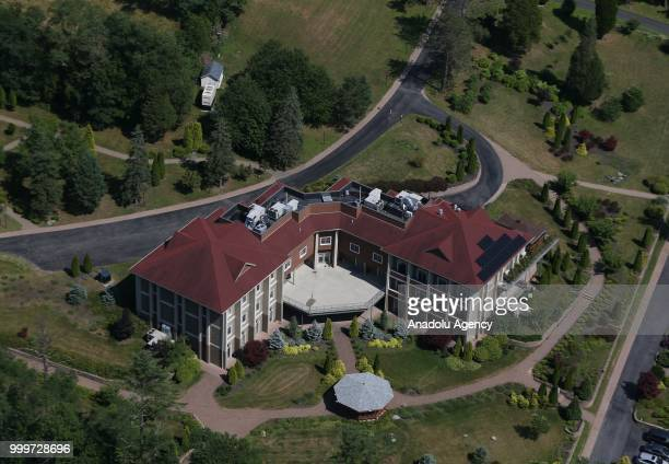 A view of the main building of the Fetullah Terrorist Organization compound where Fetulah Gulen resides in Saylorsburg PA United States on July 15...