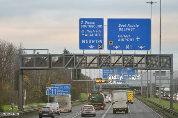 A view of the main road N1 from Dublin Center to Dublin's airport on the day that some of the Irishbased airline's pilots decided to take...