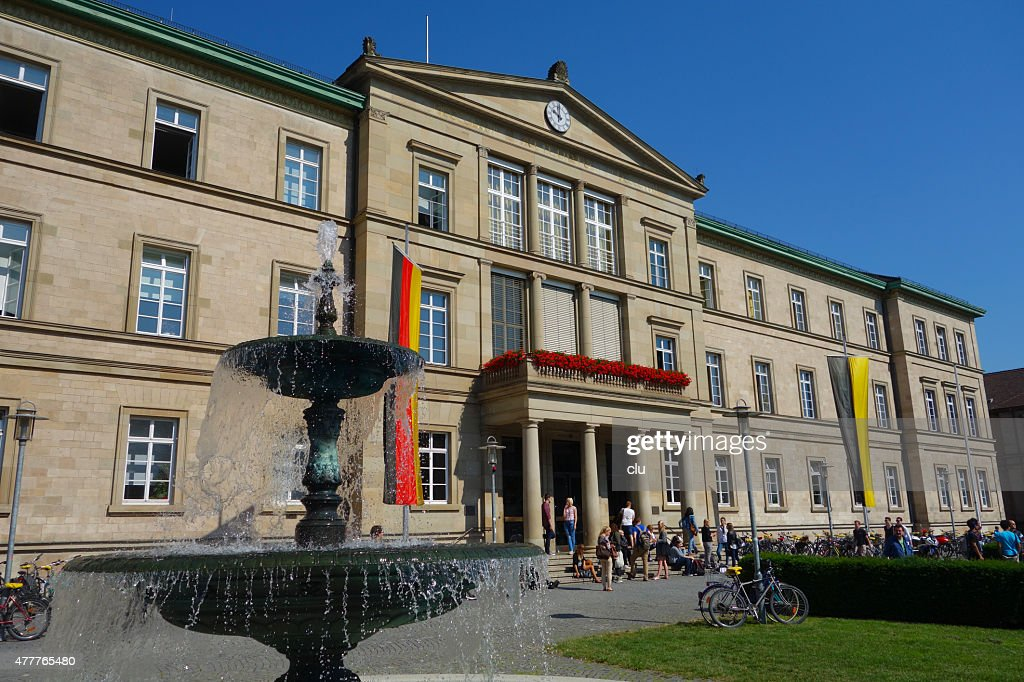 View of the main Tuebingen university building in the Wilhelmstraße : Stock Photo