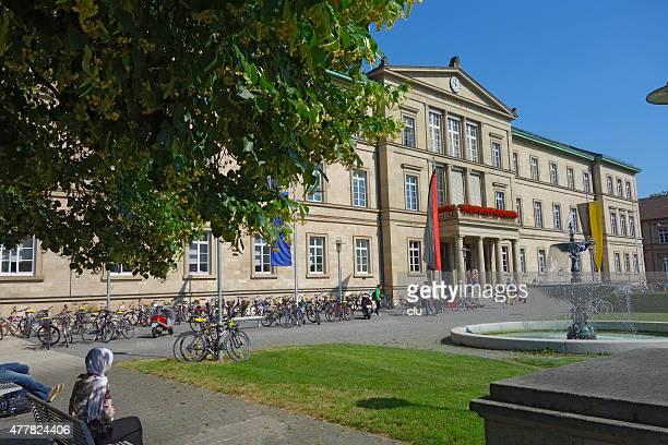 View of the main Tuebingen university building in the Wilhelmstraße