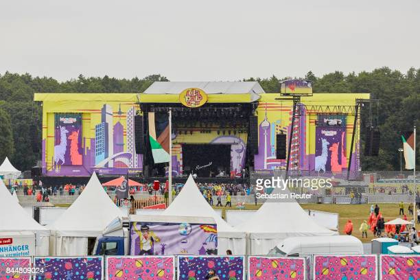 A view of the mainstage during the Lollapalooza Berlin music festival on September 9 2017 in DahlwitzHoppegarten Germany