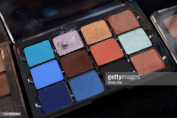 View of the makeup station backstage for Badgley Mischka during New York Fashion Week: The Shows at Gallery I at Spring Studios on February 08, 2020...