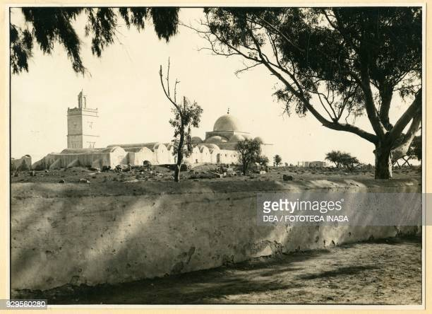 View of the Malachite mosque of Houmt El Souk Djerba Tunisia photograph by Photo Perrin Tunis ca 1920