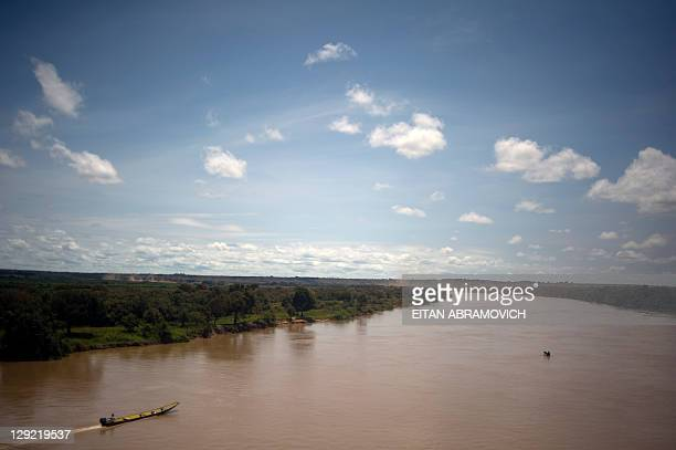View of the Manacacias River in Puerto Gaitan, Meta department, eastern Colombia, on October 8, 2011. The oil bonanza that goes through a large...